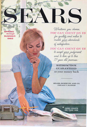 Picture of 1963 Sears Spring Summer Catalog (digital download)