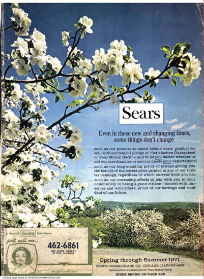 Picture of 1971 Sears Spring Summer Catalog (digital download)