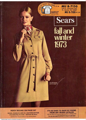 Picture of 1973 Sears Fall Winter Catalog (digital download)