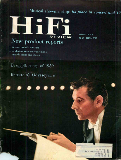 Picture of 1960 Stereo Review (HiFi Review) Magazine Issues (digital download)