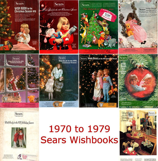Picture of 1970-1979 Sears Wishbooks (read description)