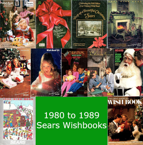 Picture of 1980-1989 Sears Wishbooks (read description)