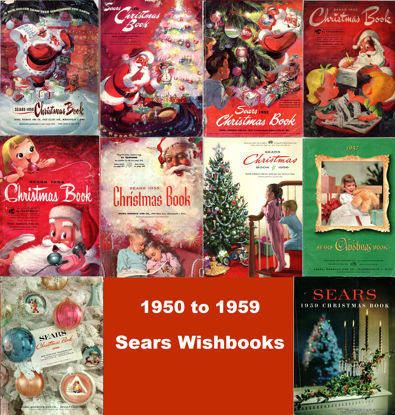 Picture of 1950-1959 Sears Wishbooks (read description)