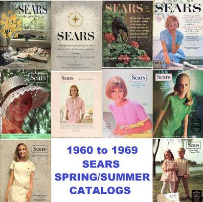 Picture of 1960-1969 Sears Spring/Summer Catalogs (read description)