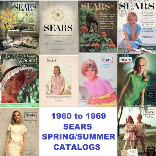 Picture of 1960-1969 Sears Spring/Summer Catalogs (read description)