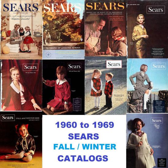 Picture of 1960-1969 Sears Fall/Winter Catalogs (read description)