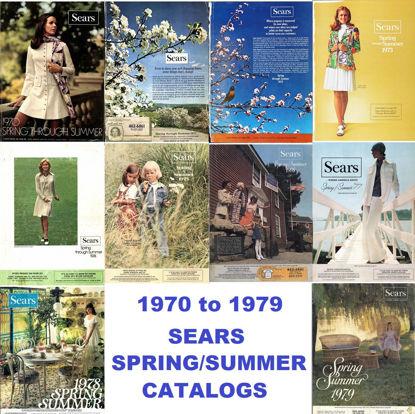 Picture of 1970-1979 Sears Spring/Summer Catalogs (read description)