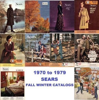 Picture of 1970-1979 Sears Fall/Winter Catalogs (read description)